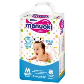 Manuoki  детские подгузники-трусики  M  6-11 кг  56 шт.