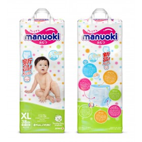 Manuoki детские подгузники-трусики XL 12+ кг 38 шт.