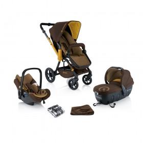 Детская коляска Concord Wanderer TS (Sleeper + Air.Safe) 3в1 + сумка Mamabag Coconut Brown