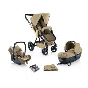 Детская коляска Concord Wanderer TS (Sleeper + Air.Safe) 3в1 + сумка Mamabag Honey Beige
