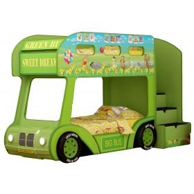 Детская двухъярусная кровать Red River Автобус Винни Люкс