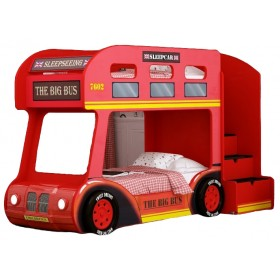Детская двухъярусная кровать Red River Автобус Лондон Люкс