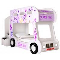 Детская двухъярусная кровать Red River Автобус Настроение Люкс