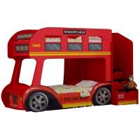 Двухъярусная детская кровать-автобус Red River Лондон Престиж