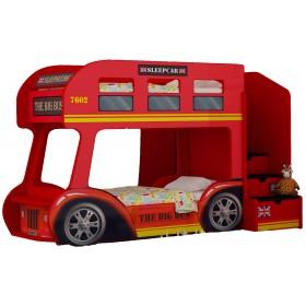 Двухъярусная детская кровать-автобус Red River Лондон