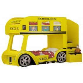 Детская двухъярусная кровать Red River  Автобус Школьный Престиж (желтый)