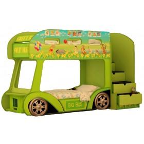 Двухъярусная детская кровать-автобус Red River Винни
