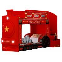 Детская двухъярусная кровать Red River Паровоз-3D Red