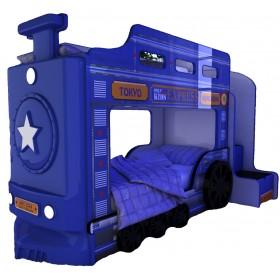 Детская двухъярусная кровать Red River Паровоз-3D Briz