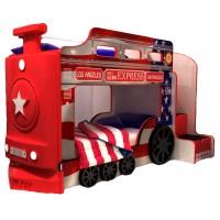 Детская двухъярусная кровать Red River Паровоз-3D America