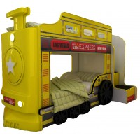 Детская двухъярусная кровать Red River Паровоз-3D Yellow