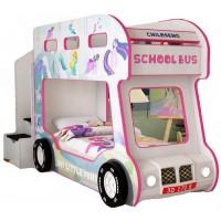 Детская двухъярусная кровать Red River Автобус Pony Люкс