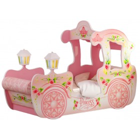 Детская кровать-карета Red River Розовая (170х90)