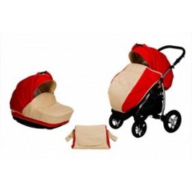 Baby World коляска 2 в 1 Verona Экокожа